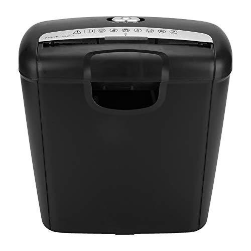 Trituradora eléctrica de 110 V para Oficina en el hogar para Papel y Tarjetas de crédito, Corte en Tiras, destrucción (Enchufe de EE. UU.) 57.8 oz