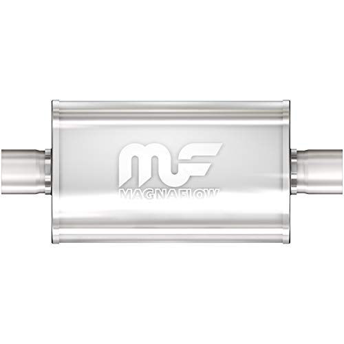 MagnaFlow 4in x 9in Oval Center/Offset Performance Muffler Exhaust 12219 - Straight-Through, 3in Inlet/Outlet Diameter, 20in Overall Length, Satin Finish - Classic Deep Exhaust Sound