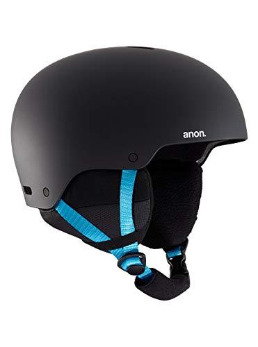 Burton Raider 3 Casco de Snowboard, Hombres, Black Pop, XL