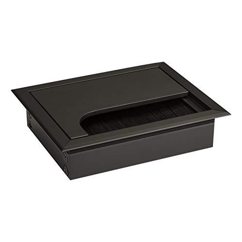 SO-TECH® Kabeldurchführung CAVO 100 x 80 mm eckig aus Aluminium schwarz eloxiert Kabeldurchlass
