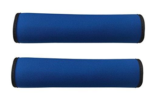 2x Auto Gurtschutz Sicherheitsgurt Schulterpolster Schulterkissen Autositze Gurtpolster für Kinder und Erwachsene (Blau/Schwarz) - von HECKBO