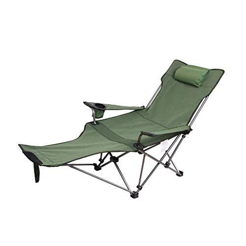 WSDSX Silla Plegable reclinable Plegable para jardín Silla de Pesca para Acampar, Silla portátil de Ocio al Aire Libre con Respaldo Alto con portavasos, cojinete 150 kg Beach Sun Loung