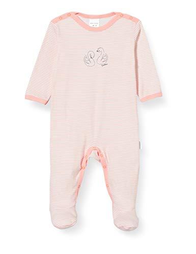 Schiesser Baby-Mädchen Anzug Mit Fuß Zweiteiliger Schlafanzug, Gelb (apricot 603), 86 (Herstellergröße:086)
