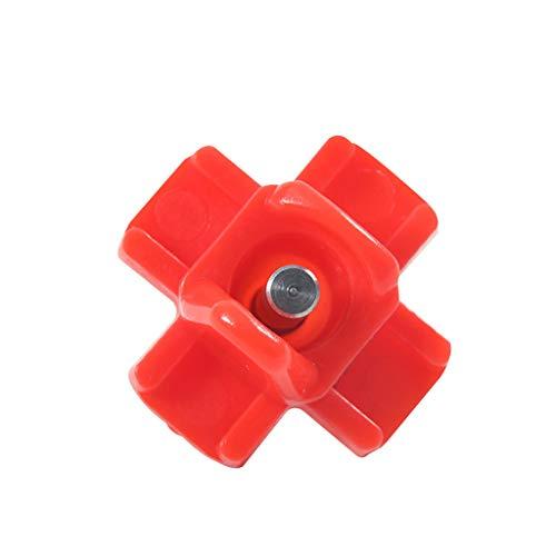 DEtrade Neue Art von Hühnertrinker mit integrierter Feder und Automatischer Stahlkugel Trinkbrunnen Kopf (Red)