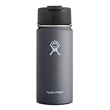 Hydro Flask 16 oz Vacuum Insulated Stainless Steel Water Bottle, Wide Mouth w/Hydro Flip Cap, Graphite