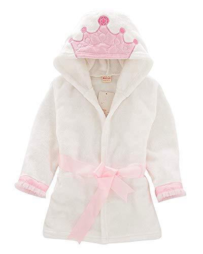 Infantil Niños Niña Albornoz con Capucha Toalla De Pijamas Housecoat Albornoces Bata Ropa Corona 100