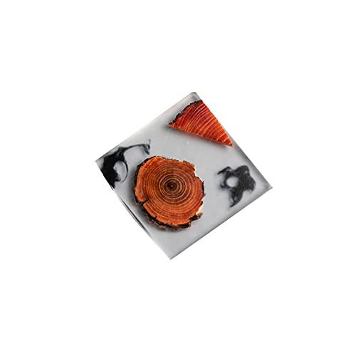 Wzdszuilbd Posavasos, Bebida de Madera RESAVER Resin Pine Anti-Skid Y PLACEMAT PLACEMAT Tapa DE COFERA DE CAFEA (Color : B)