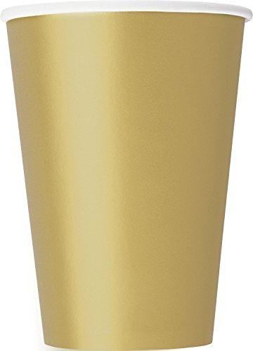 Papierbecher - 355 ml - Gold - 10er-Pack