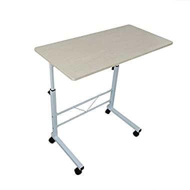 Table adjustable - Computer desk stand for sofa or bed - Portable laptop desk on wheels for writing, drawing, board games, models, puzzles, arts and crafts, trade shows, gardening!