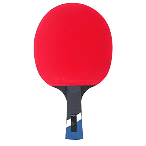 LINGOSHUN Raquetas de Tenis de Mesa,Goma Aprobada por la ITTF,Paleta de Ping Pong Profesional para el Entrenamiento Diario de Jugadores Intermedios / 6 Stars/Long handle