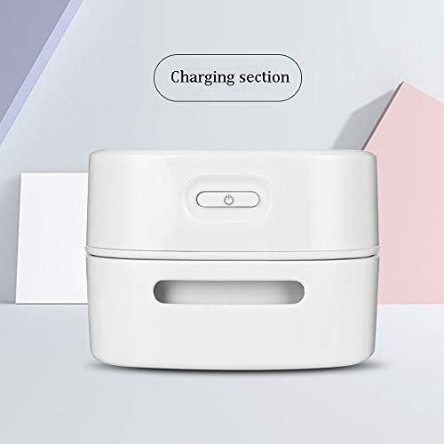 MELAG Aspiradora de sobremesa portátil,para el Coche,la Oficina,el Ordenador,el Escritorio,la Limpieza,Diseño Giratorio de 360 Grados,un Paso,Interruptor de un botón,Conveniente y rápido(Blanco)