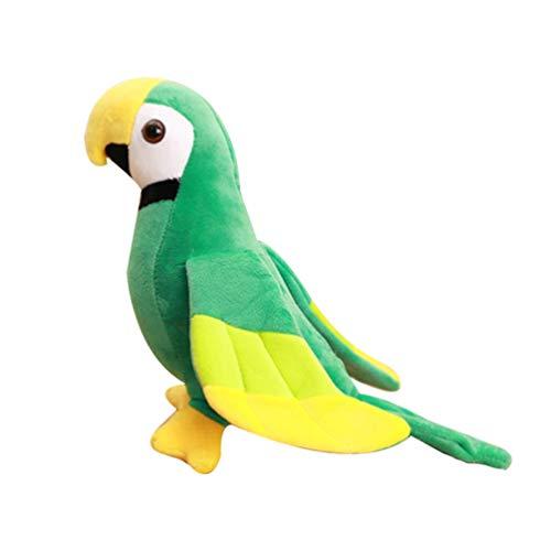 NUOBESTY Loro de Peluche de Juguete Realista Loro de Peluche de Juguete de Felpa Loro Mullido Pájaro Animal de Peluche para Niños Decoración Verde S