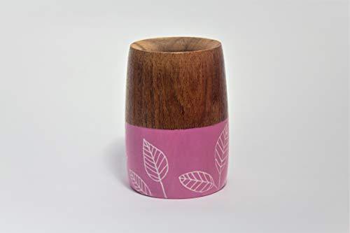 RAICES Mate Argentino de madera de algarrobo 100% artesanal, pintado y tratado...