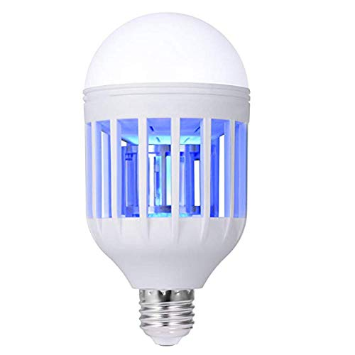 Bug Zapper Light Bulb, Electronic Insect Mosquito Killer 2 in 1 Lamp UV LED Electronic Insect & Fly Killer for Home Indoor and Outdoor