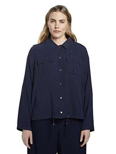 TOM TAILOR MY TRUE ME Damen Utility Jacke, Real Navy Blue, 48