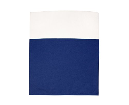 Little Love by NoJo Separates Collection Solid Crib Skirt, Navy