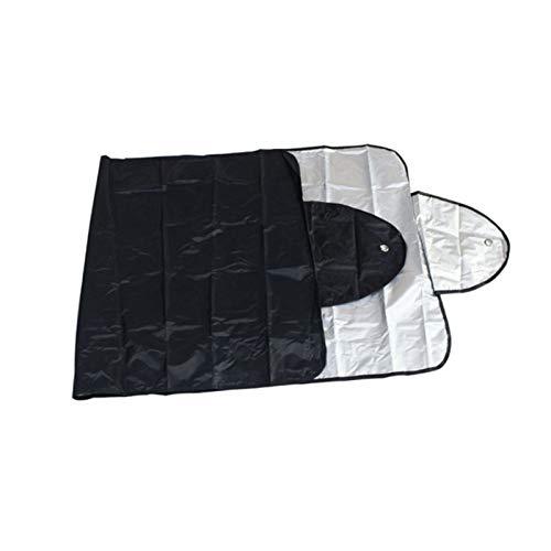YDZS Parasol De La Pantalla del Coche Parasol Parabrisas del Coche Parasol Retráctil Cubierta del Parabrisas del Coche (Color : Black)