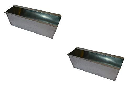 2X Blumenkasten Balkonkasten Einsatz für Europalette Pflanzkasten Verzinkt ca.35,5 X 12,5 x 12 CM Beet Garten vor der Haustüre für Europaletten oder passende Einwegpaletten Einsatz Blumen Pflanzen