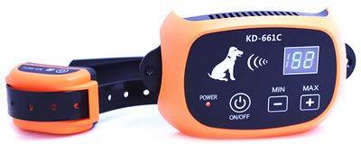 Pandao Sistema de Valla inalámbrico para Perros transmisor de señal inalámbrico Collar de Entrenamiento para Perros-Negro