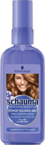 Lot de 6 sprays Schwarzkopf Power Volume - Utilisation avec sèche-cheveux - 48 h - 6 x 100 ml