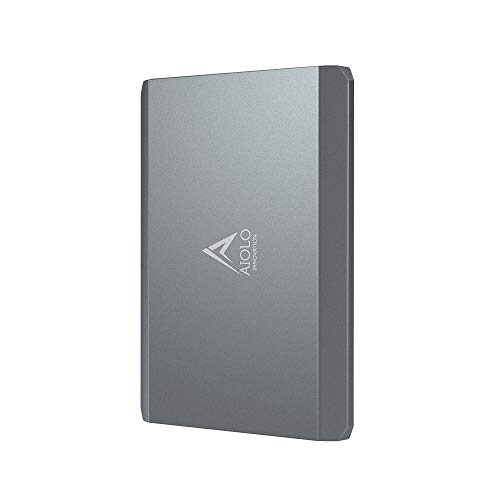 "AIOLO 2.5"" 1To Disque Dur Externe Portable Alliage d'aluminium Type C USB3.1 SATA, Stockage HDD pour PC, Mac, TV, Desktop, Laptop, PS4, Xbox"