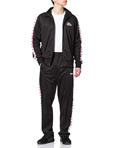 Lonsdale Mens TICKNALL Training Suit, Black/White, Extra Large