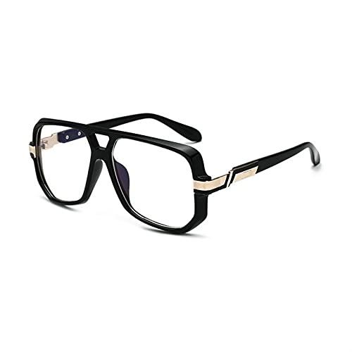 JWYing Gafas de Sol de Moda para Hombre de Gran tamaño Vintage diseñador de la Marca Hombres Gafas de Sol Square Marco Degradado UV400 Sombras (Lenses Color : C07)