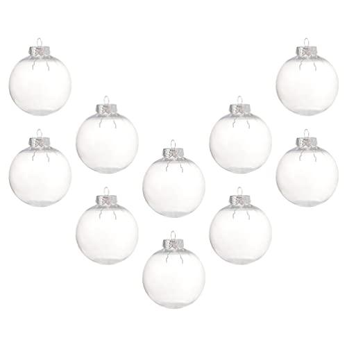FOMIYES 10 palline di Natale trasparenti riempibili palline per albero di Natale, decorazioni per albero di Natale, matrimoni, compleanni