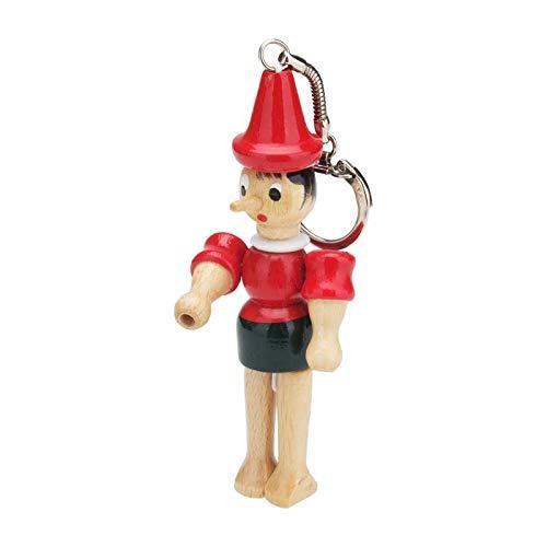 GICO Pinocchio Schlüsselanhänger aus Holz, - Made in Italy- 9029