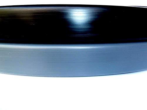 CHM 1 m PVC Kunststoff Handlauf, Treppenhandlauf 40x8 mm (Schwarz)