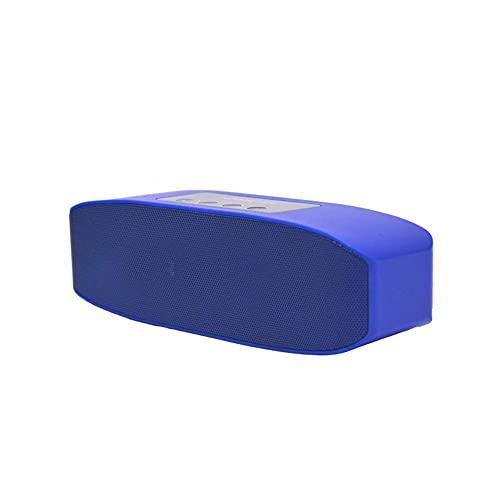 Altavoz Bluetooth portátil, rango de Bluetooth 0M, altavoz inalámbrico portátil perfecto para el hogar, al aire libre, viajes mei (Color : Blue)