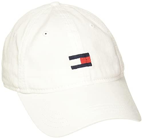 Tommy Hilfiger Men's Ardin Dad Hat, Tommy White, One Size