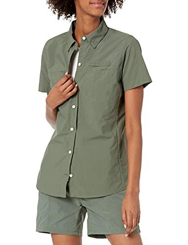 Amazon Essentials Camiseta de Manga Corta para Exteriores con Bolsillos en el Pecho Camisa, Oliva polvorienta, XL