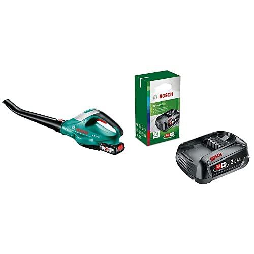 Bosch Home and Garden Bosch 06008A0501 ALB 18 Li 2,5 Ah Soplador A Batería, Negro/Verde 18 V + Batería De Litio De 18 V / 2,5 Ah [Power For All]