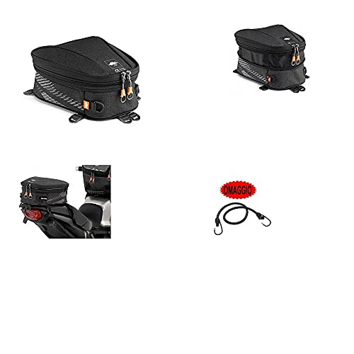 Compatible con TGB Bullet 50 SILLÍN Bolsa SILLÍN para Moto Scooter Bolsa para Rack Kappa FIJACIÓN Universal con 3 Correas Regulables