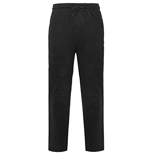 Pantalones deportivos para hombre, de forro polar cepillado, cintura elástica, con puños...
