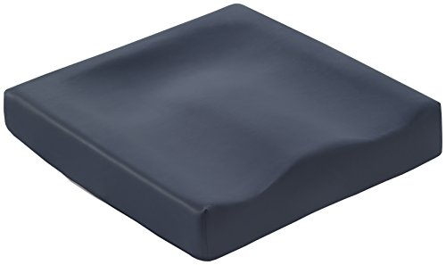 Más Relax Asiento Visco Elástico Anatómico Anti Escaras, Espuma con Memoria, Azul, 42x42x7 cm