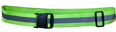 Shinecailife Adjustable Reflective Gear Sash Belt,for Running,Cycling,Biking,Walking,Jogging Etc,Elastic Safety Reflective High Visibility