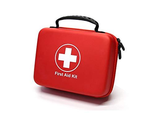 SHBC Kompaktes Erste-Hilfe-Set (228 Stück) wasserdichte Medizinische Kit Einschließlich EMT-Zubehör wie Notfalldecke und Bandagen, geeignet für Auto, Haus, Boot, Camping, Büro, Wandern, Sport, etc.