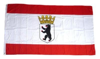 Flaggenking 17046 Berlin Flagge/Fahne - wetterfest, mehrfarbig, 150 x 90 x 1 cm