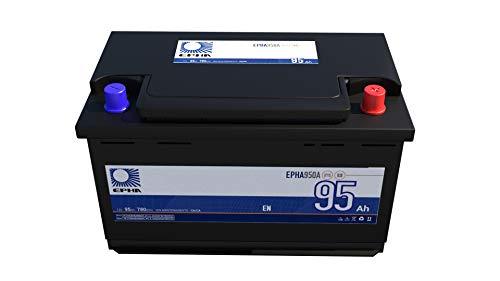 Bateria arranque coche todoterreno EPHA950A 12v, 95Ah 780EN +DER Alta, equivalente a TB950, G3, Garantía TUDOR