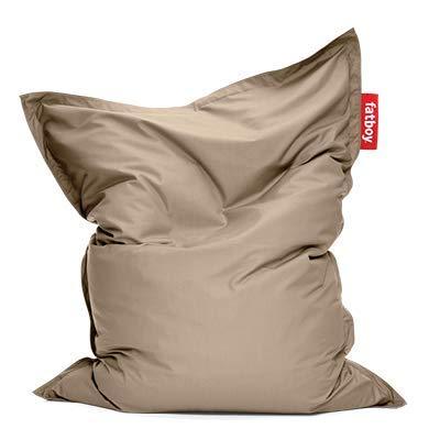 Fatboy® Original Outdoor Sitzsack Sandy Taupe | Klassische Beanbag für draußen, Sitzkissen in Beige | 180 x 140 cm