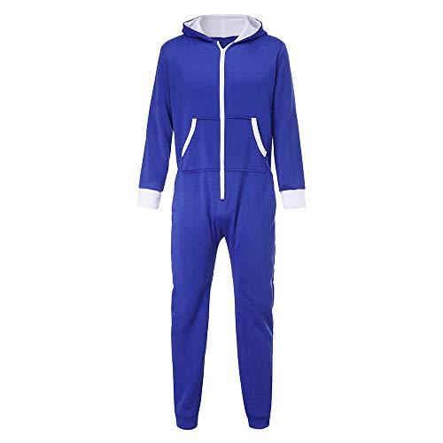 FRAUIT unisex jumpsuit jogger dames heren capuchon nachtkleding jogging pak trainingspak één stuk pyjama Playsuit overall sportpak carnaval casual feestelijke kleding