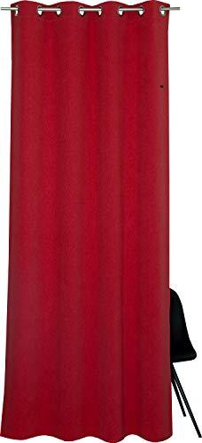 ESPRIT Ösen Vorhang orange Blickdicht • Gardinen Vorhang 2er Set • Ösenschal 140 x 250 cm Harp • 100% Polyester