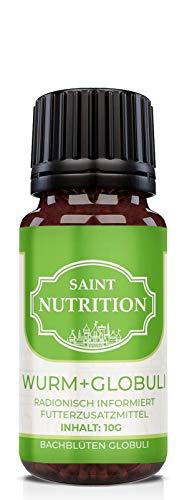 Saint Nutrition NEU Entwurmungs Globuli - für Tiere - DIE Wurmkur Alternative für Hunde + Katzen, natürliche Ernährung für Hund & Katz, 10g