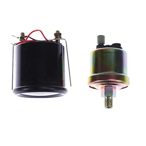BESPORTBLE Universal Auto Geändert Ölpresse Manometer 12 V 52mm mit Sensor Auto Meter Digitale Tankanzeige Tester