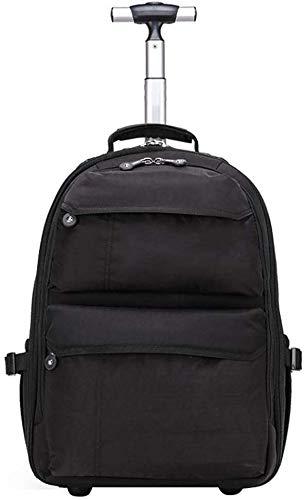 WYJW Trolley koffer, instapkoffer, rugzakken met laptopvakken, waterdicht en slijtvast (kleur: zwart, maat: 19 inch)