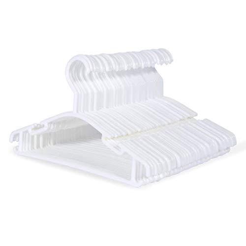 sfesnid Grucce per bambini grucce resistenti per bambini e neonati Set di 40 pezzi 27CM, Bianco + 3 pezzi Organizzatore