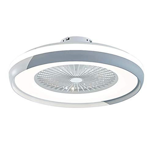 Ventilador de Techo para Interior de 24'Con Luz Led de 32 W,Luz de Techo Regulable Moderna,Montaje Empotrado con Control Remoto,3 Archivos,Lámpara de Ventilador de Techo Redonda Acrílica Sin Cuch