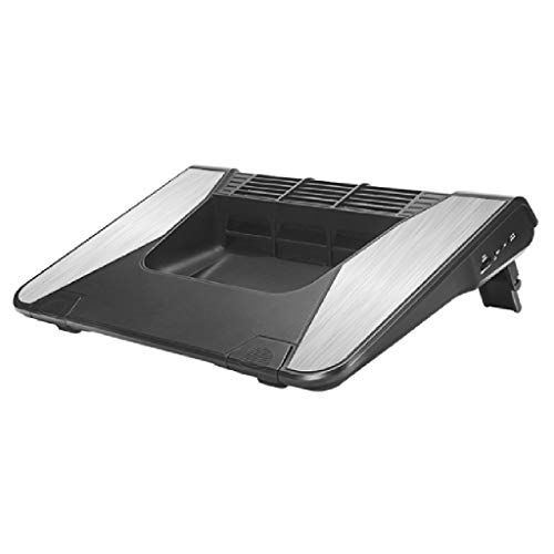 Laptop Cooling Pad 17' Laptop Cooler Cooling Pad Long-torque Turbine Fans Stable Silent Laptop Stand Gaming Laptop Cooler USB Powered Fan Laptop Cooler (Color : Multi-colored)